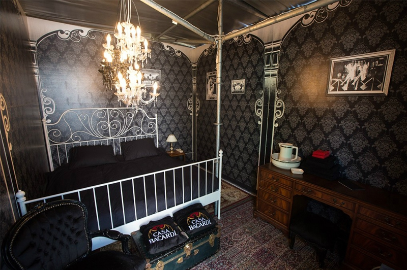 Inside The Casa Bacardi Was A Bedroom In Which You Could Win Overnight Stay During Festival It Standing I Assisted With Drawing Of