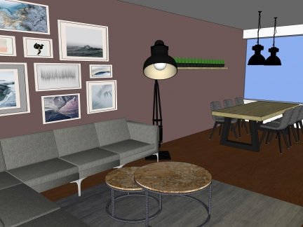 3D Woonkamer